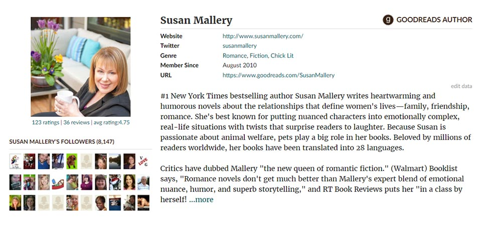 Connect with Susan on Goodreads